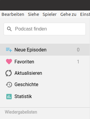 Shows translated example app in german